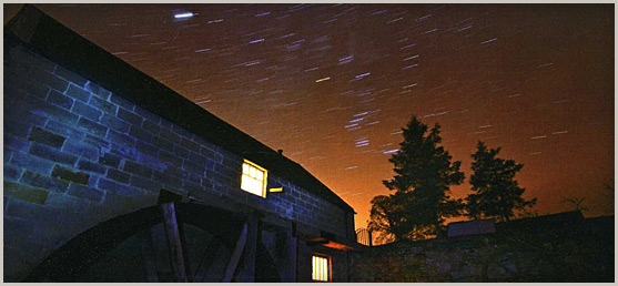 Stargazing over The Old Mill (Photo by Chris Burton)